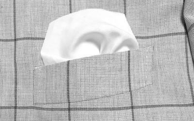 簡単に出来るポケットチーフの挿し方(入れ方)ー【パフドスタイル】編  ー