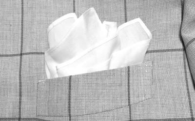 簡単に出来るポケットチーフの挿し方(入れ方)ー【クラッシュドスタイル】編  ー